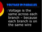 voltage in parallel