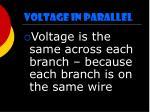 voltage in parallel