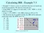 calculating irr example 7 3