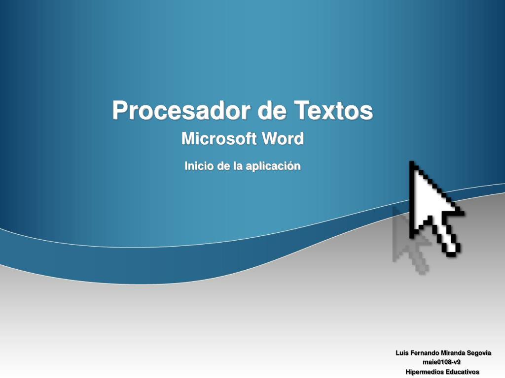 procesador de textos l.