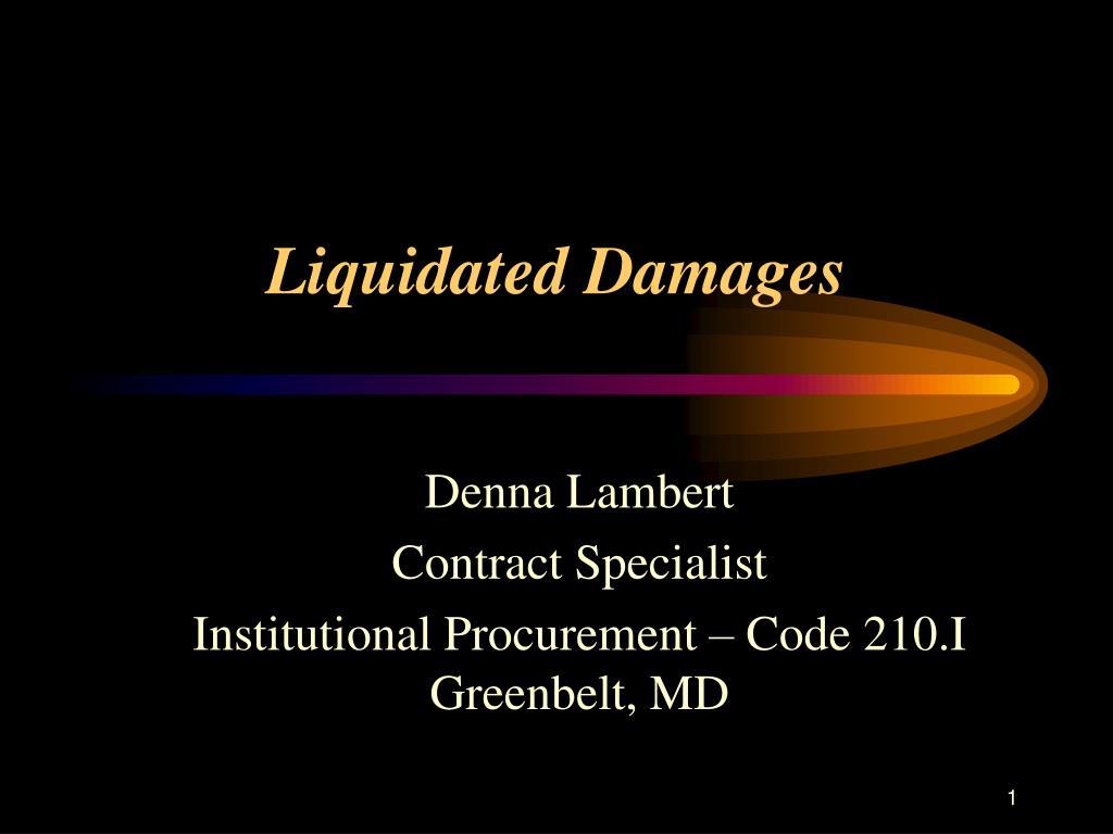 liquidated damages l.
