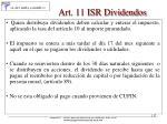 art 11 isr dividendos