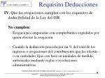 requisito deducciones58
