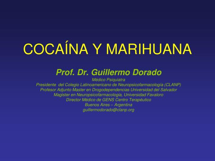 coca na y marihuana n.