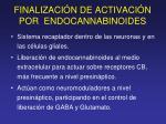 finalizaci n de activaci n por endocannabinoides
