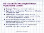 pre requisites for pmas implementation organisational elements10