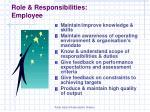 role responsibilities employee