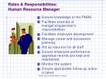 roles responsibilities human resource manager