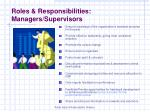 roles responsibilities managers supervisors