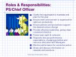 roles responsibilities ps chief officer