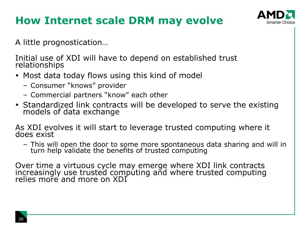 How Internet scale DRM may evolve