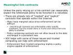 meaningful link contracts