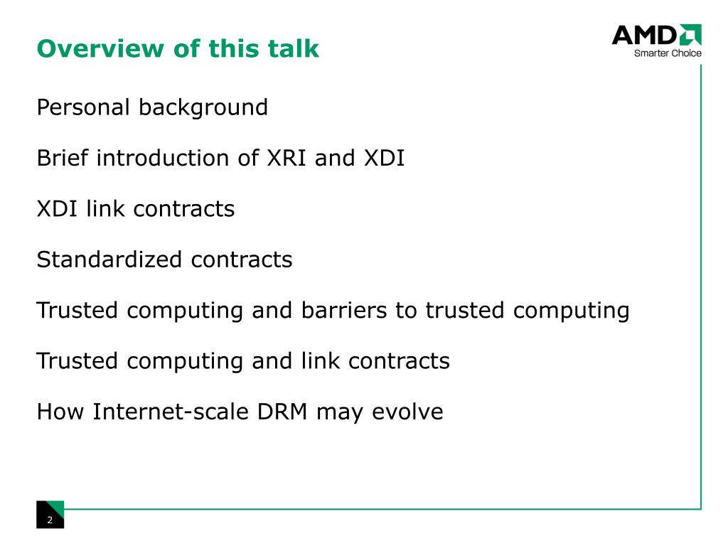 Overview of this talk