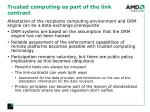 trusted computing as part of the link contract