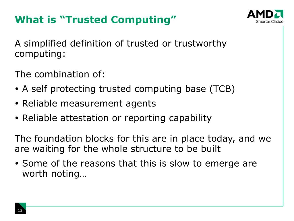 """What is """"Trusted Computing"""""""