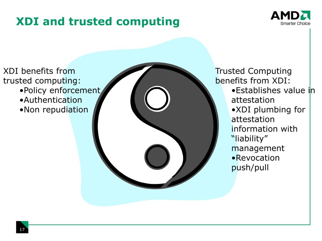 XDI and trusted computing