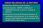 vision religiosa de la historia