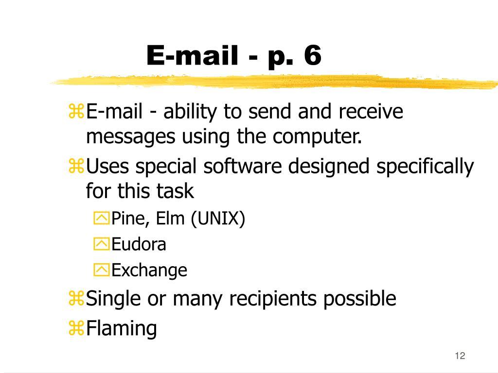 E-mail - p. 6