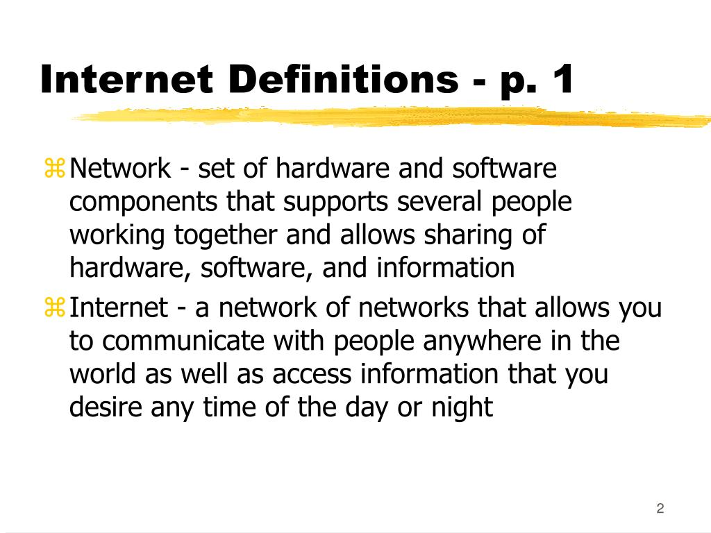 Internet Definitions - p. 1