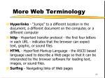 more web terminology