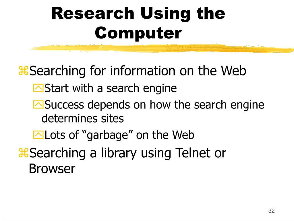Research Using the Computer