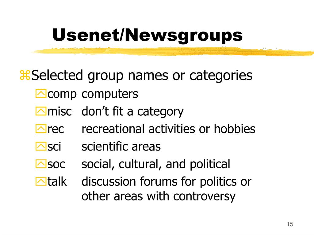 Usenet/Newsgroups