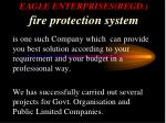eagle enterprises regd fire protection system