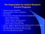 the organization for autism research current programs
