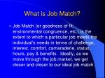 what is job match