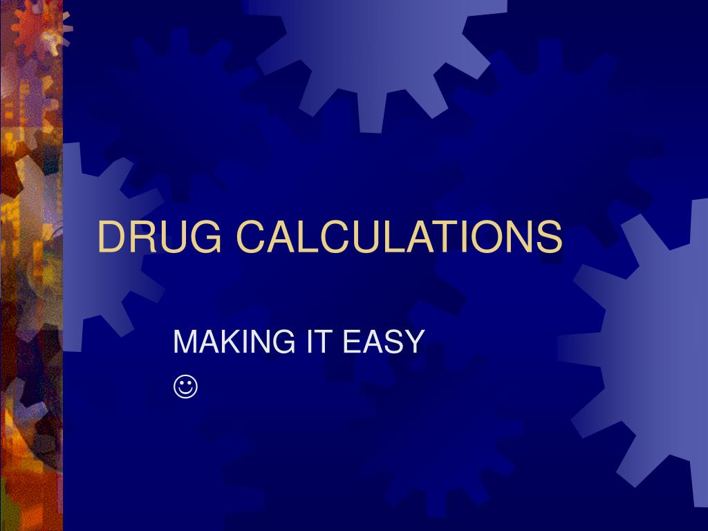 drug calculations l.