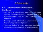 a psicometria
