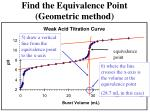 find the equivalence point geometric method7
