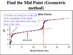find the mid point geometric method