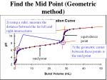 find the mid point geometric method9