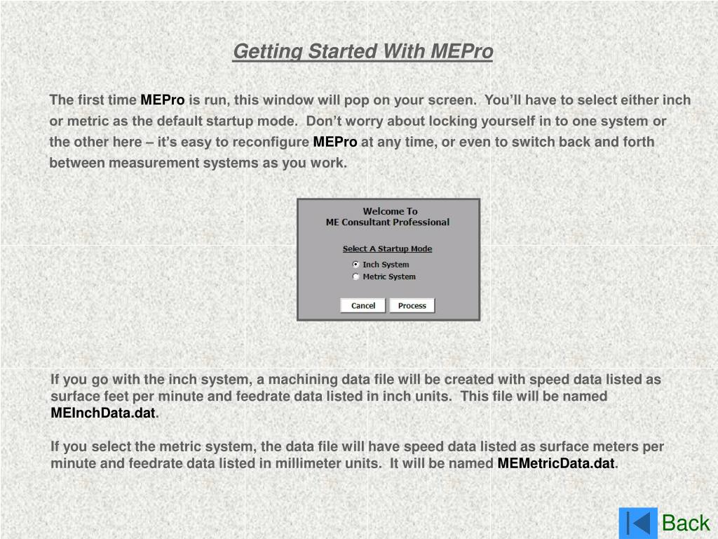 Getting Started With MEPro