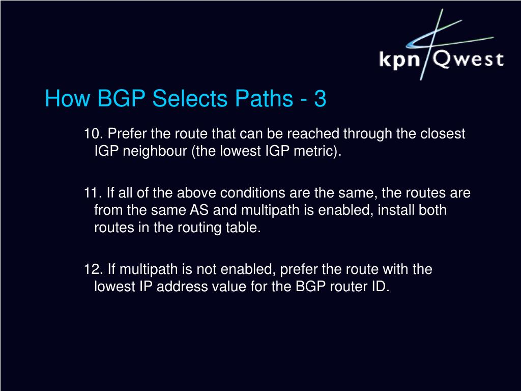 How BGP Selects Paths - 3
