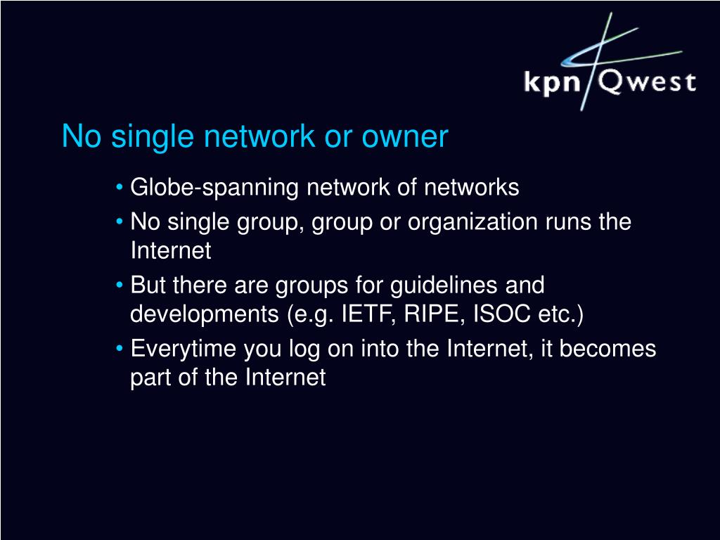 No single network or owner