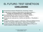el futuro test gen ticos32
