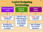 capital budgeting terminology