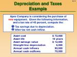 depreciation and taxes example