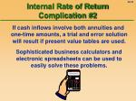 internal rate of return complication 2