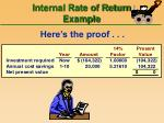 internal rate of return example51