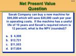 net present value question