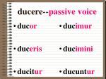 ducere passive voice