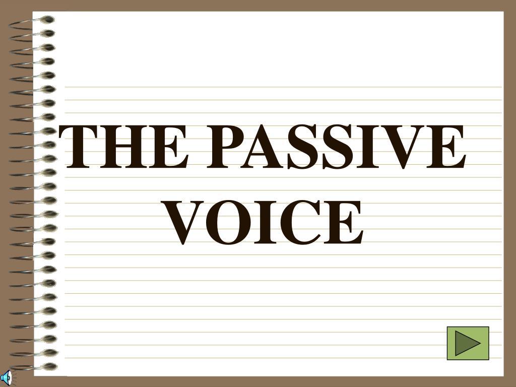 the passive voice l.