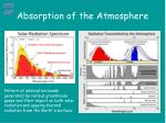 absorption of the atmosphere