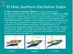 el nino southern oscillation index