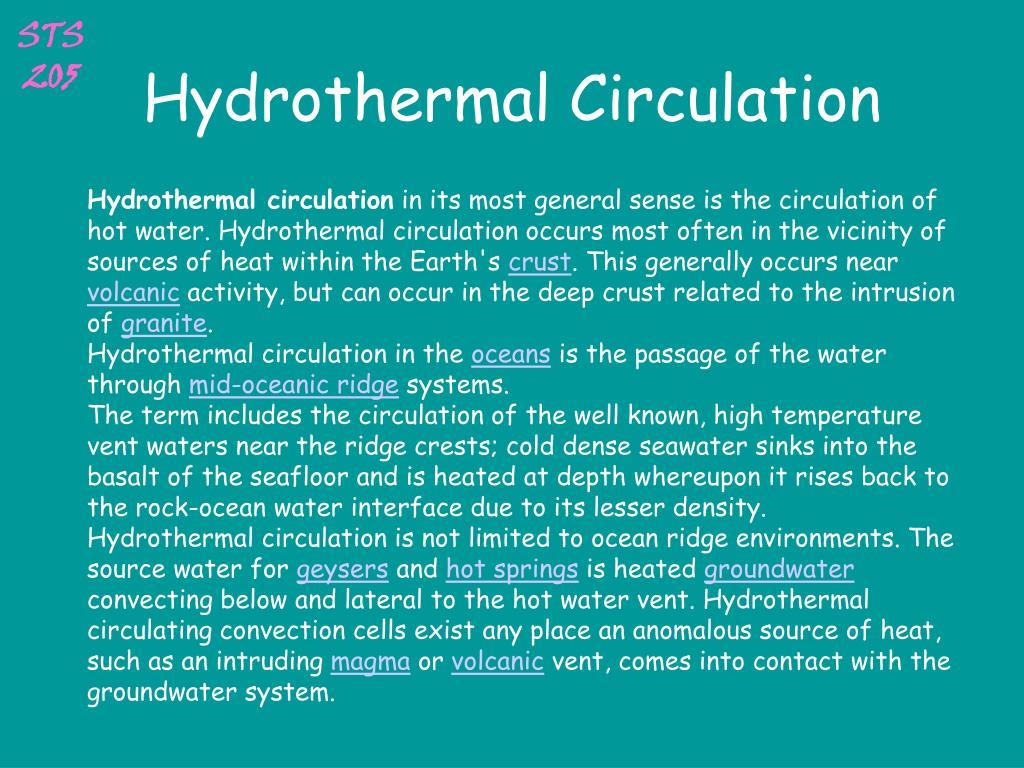 Hydrothermal Circulation