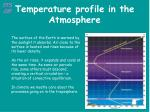 temperature profile in the atmosphere