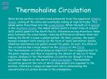 thermohaline circulation16